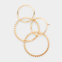 Double Wired Hoops: Gold Or Silver