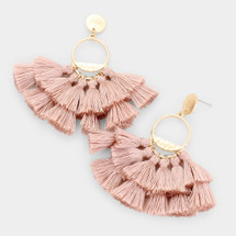 I'm Blushing Tassel Earrings
