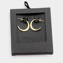 Gold Dipped Crescent Hoops: Gold Or Silver
