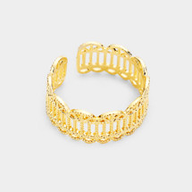 Gold Dipped Parthenon Ring: Gold Or Silver