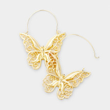 Monarch Earrings: Gold or Silver
