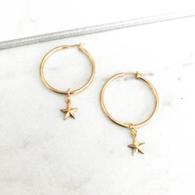 Constellation Hoop Earrings