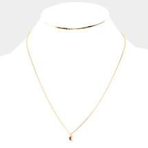 Moonstone Tiny Moon Necklace