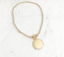 Sun Circle Coin Necklace