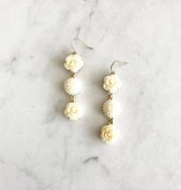 Ivory Flowers Earrings