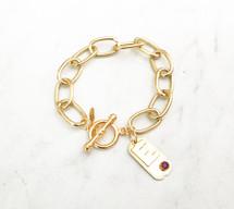 Birthstone Initial Bracelet - NEW!