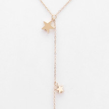 Falling Stars Lariat Necklace