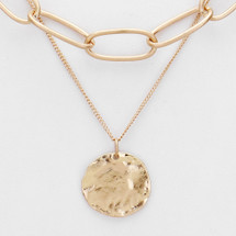 Double Layer Coin Necklace