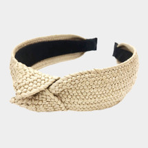 Woven Straw Knotted Headband