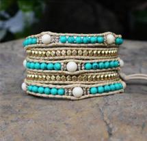 Turquoise Dreams Wrap Bracelet