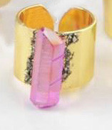 Aura Crystal Ring - PINK