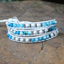 Ocean Blues Wrap Bracelet