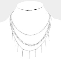 Classic Triple Pre-Layer Necklace: Gold Or Silver