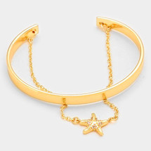 Starfish Chain Cuff - Gold