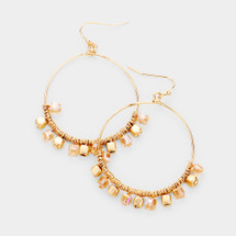 Perfect Beaded Hoops