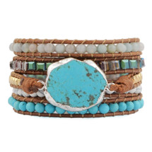 Turquoise Nights Wrap Bracelet