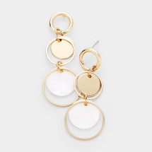 Double Circle Disc Earrings