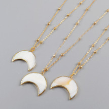 Summer Moon Crescent Necklace