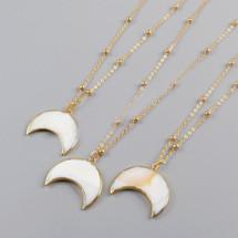 Summer Moon Crescent Necklace