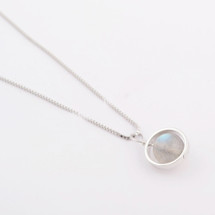 Silvery Disc Necklace