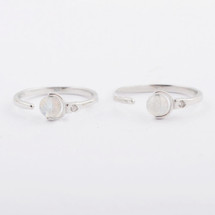 Silvery Disc Ring
