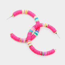 Tulum Hoops: Pink