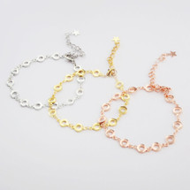 Circles + Stars Bracelet: Gold, Silver Or Rose