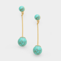 Turquoise Ball drop Studs