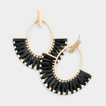 Raffia Half Circle Earrings