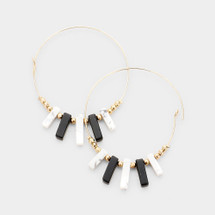 It's Black & White Natural Stone Earrings