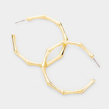 Modern Bamboo Hoops: Gold Or Silver