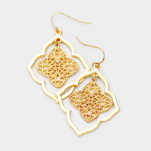 Floral Filigree Earrings: Gold Or Silver