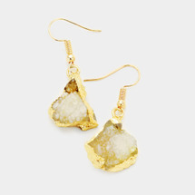 Gold Rush Druzy Earrings