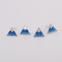 Silver Plated Triangle Studs