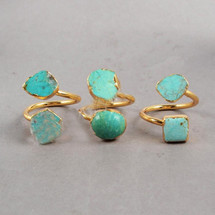 Double Turquoise Ring