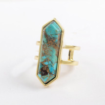 Turquoise Hexagon Ring
