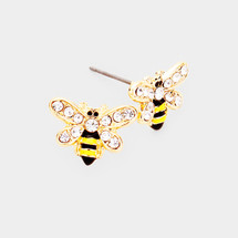 Bumble Bee Post Stud Earrings