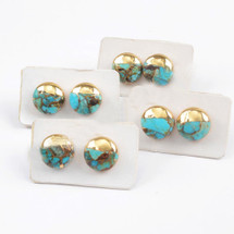 Turquoise Circle Studs