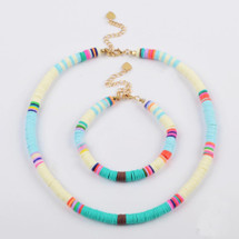 Tulum Beaded Necklace/Bracelet Set - White