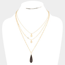 Onyx Disc Pre-Layer Necklace