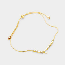 Adjustable Initials Bracelet: Gold