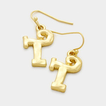 Letter Earrings: Gold