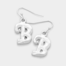 Letter Earrings: Silver
