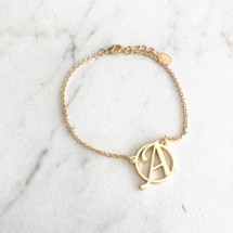 Circle Monogram Initial Bracelets