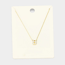 Gold Dipped Pendant Necklace: Gold