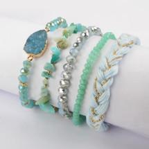 Marine Layer Semi-Precious Stone Bracelet Set