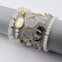 Manhattan Vibes Semi-Precious Stone Bracelet Set