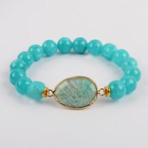 Amazonite Semi Precious Bracelet