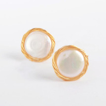 Pearl Wire Wrap Studs