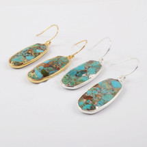 Turquoise Lovin' Earrings - Gold Or Silver